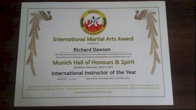 Congratulations to Sifu Richard Dawson image